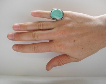 Vintage Old Pawn Turquoise Ring - Size 5