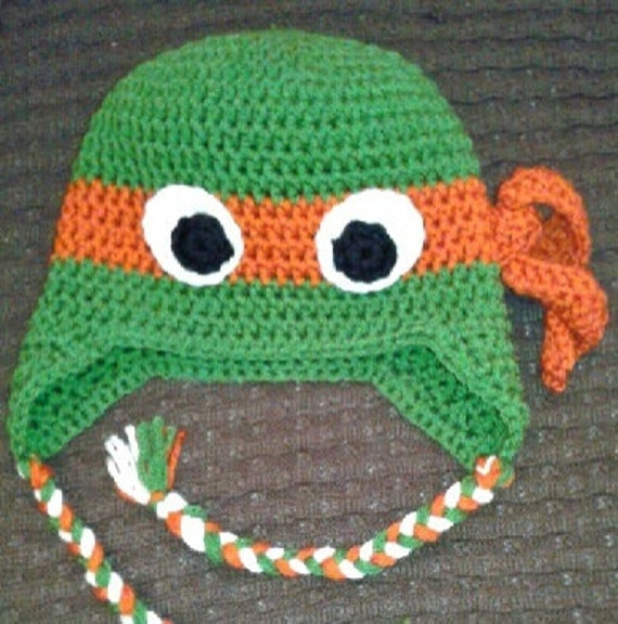 Ninja Turtle Hat Crochet Patterns Patterns Kid