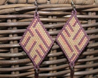 Beaded earrings Miyuki Delica