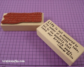 Carlin Quote Stamp / Invoke Arts Collage Rubber Stamps