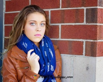 Wise Owl Scarf - Super Cute and Trendy for Adult or Teenagers - Navy, Black