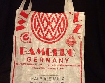 Recycled beer grain bag