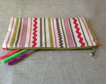 Zippered pencil case