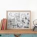 Auckland, Karangahape Road Illustration, Giclee Art Print, quirky, detailed drawing, NZ's most exciting street, in black and white, New Shop