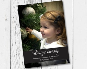 Always Merry Printable Holiday Card