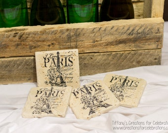 I Love Paris in the Spring Time Coasters