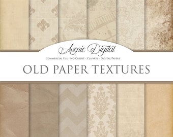 Vintage Digital Paper. Scrapbooking Backgrounds, Old damask patterns for Commercial Use. Worn, grungy, shabby textures. Clipart Download.