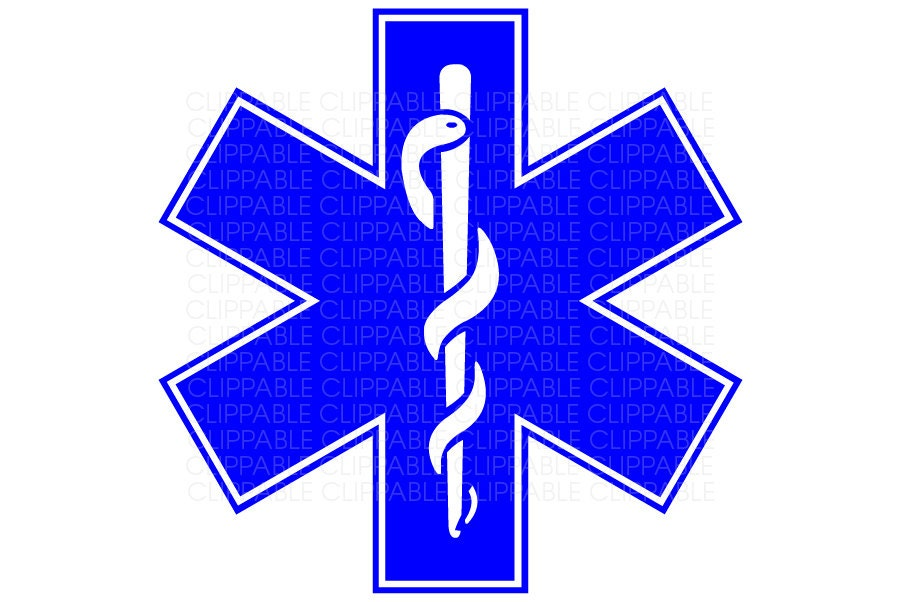 EMS Star of Life Symbol Clip Art Digital Graphics by Clippable