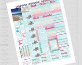 Beach Cottage Planner Stickers Kit //  Perfect for Erin Condren Planners
