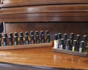 Solid Oak Essential Oils Holder
