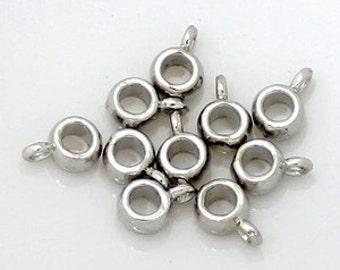 30pcs--Hanger Link, Antique Silver, 9x5.8mm (B19-12)