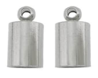 8-20pcs--Stainless Steel End Caps, Choose Quantity, 7x12mm (B5-5)