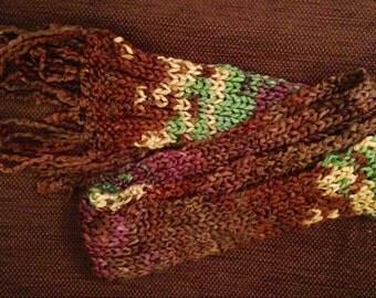 Handmade chunky knit long scarf
