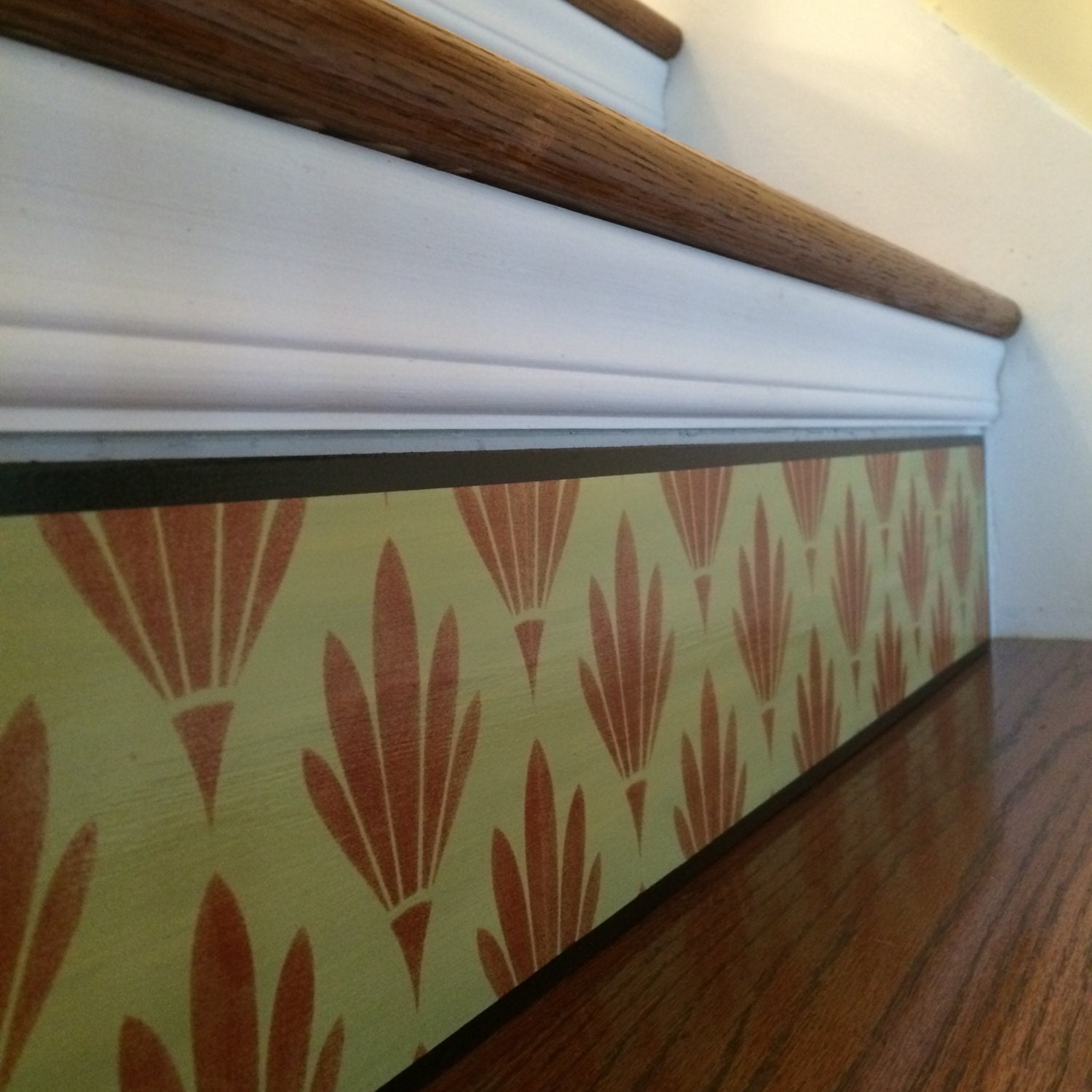Carved Wood Stair Risers Stair Ideas Stamped Leather: Stair Riser Panel / Alternative To Stair Riser Decals Stair