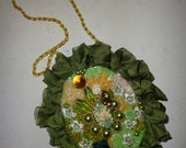 necklace hand crafted with pearls and beads