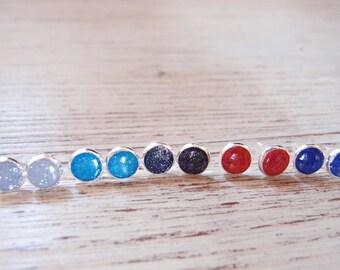 Glitter Stud earrings-luminous lobe earrings-glitter earrings-mini lobe earrings-Mother's Day gift