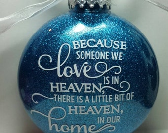 Sentimental Personalized Holiday Ornament. Custom Heaven Love Ornament Christmas Ornament Christmas Stocking Rememberance Christmas