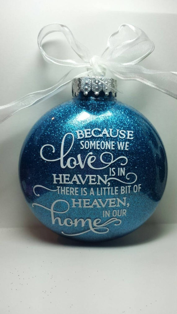 sentimental personalized holiday ornament  custom heaven love