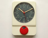 Beautiful 70s Belle Cuisine Wall Kitchen CLOCK Germany - with Timer - Panton Era Space Age 1970s