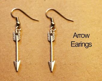 Arrow Earrings.  Arrow.  Earrings.  Tribal earrings.  Tribal.