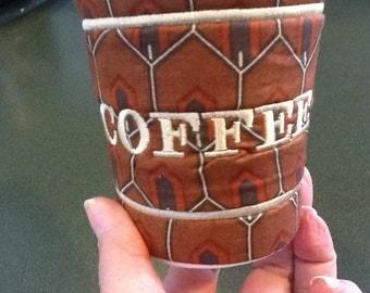 In the hoop coffee sleeve 3 pk machine embroidery designs
