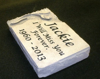 Custom engraved  memorial garden stone or memory stone