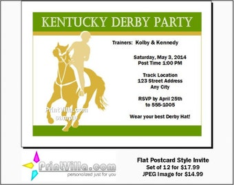 Kentucky Derby Party Invitations Set of 12