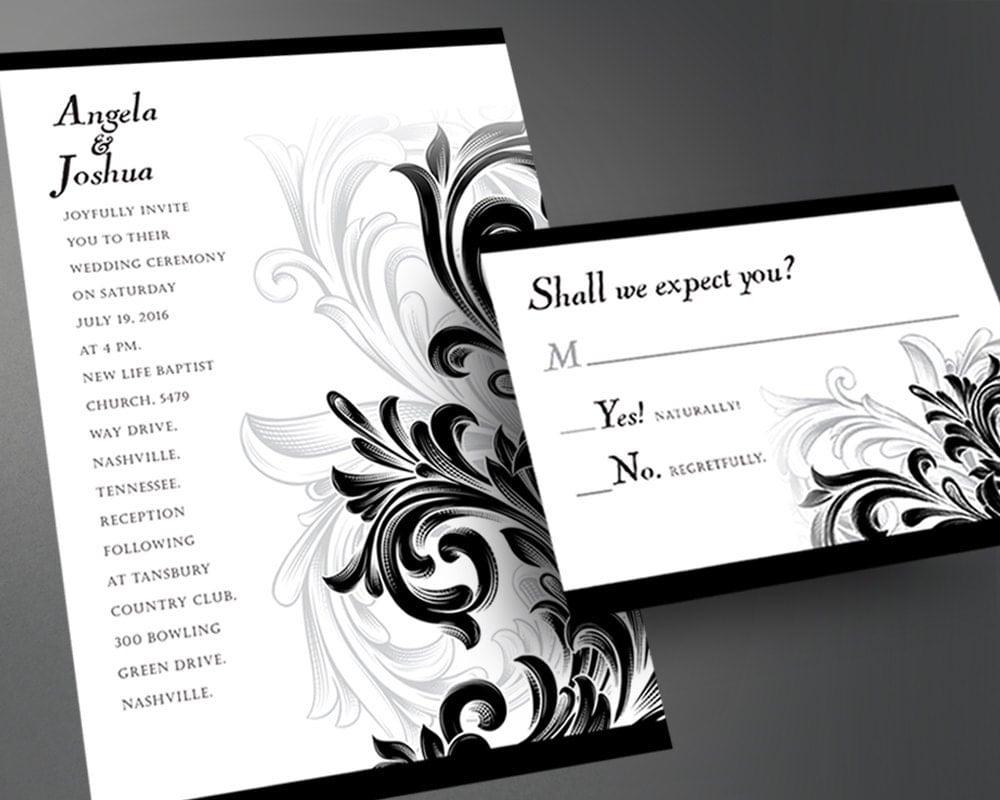 How To Print Wedding Invitations: Wedding Invitation PDF Printable Wedding By InvitesByAllan