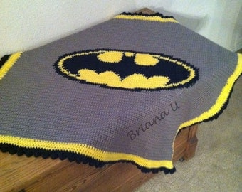 Batman Blanket Crochet