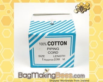 Size 1 Cotton Piping Cord - Size 1 = 1/8inch Or 3mm Thick [Sold In Increments Of 2 Yards]