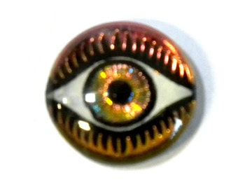 14MM Mysterious Eye Fuchsia/Lime Cabochon