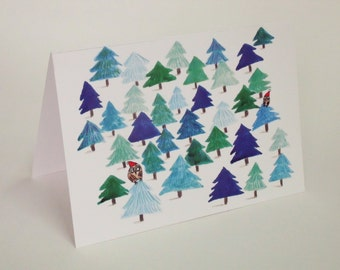 Pack of 8 A6 Christmas cards with envelopes.