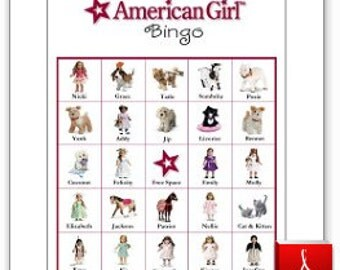 20 Printable American Girl Bingo Cards
