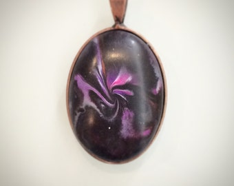 Hand Sculpted Polymer Clay Pendant
