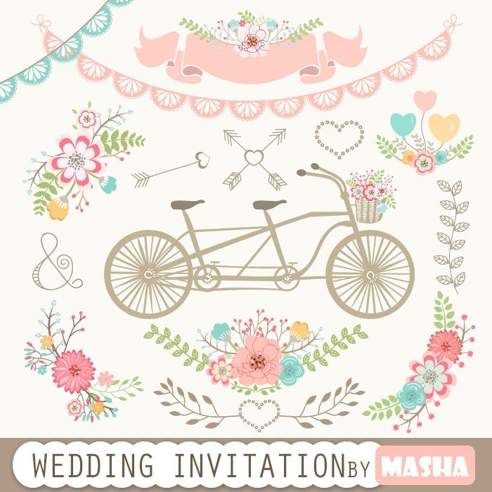 Clipart Flowers Wedding Invitation Clipart Flowers: Wedding Invitation Clipart: WEDDING INVITATION