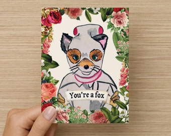 "Fantastic Mr. Fox ""Ash"" Love Card"