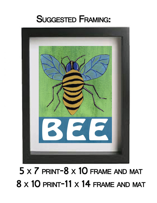 wall art print decor baby nursery bug bee art print decor wall art for kids bedroom baby nursery cool bee