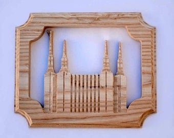 LDS Temple - Washington DC Temple - Solid Hardwood - Free Shipping