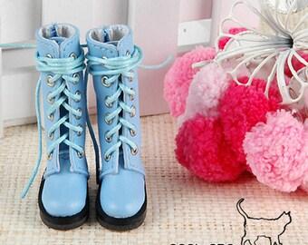 14-02。Blythe Pullip Boots.Sky Blue