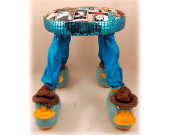 Footstool, Perry The Platypus, Childrenu0027s Furniture, Handmade, Unique Baby  Gift, Baby