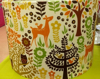 Scandinavian 'woodland folklore' style, stags & deer handmade lampshade in various sizes