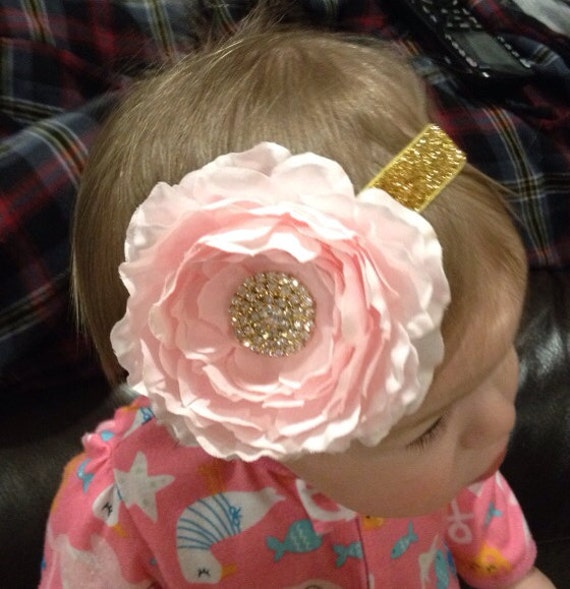 Pink And Gold First Birthday Headband Pink And By
