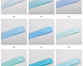 100y Wholesale Grosgrain ribbon DIY ribbon tape Hairband bow ribbon supplier -Blue