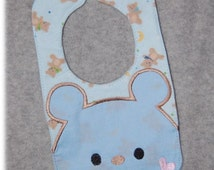 SALE PRICE Today Only   6x10 Bear Bib Embroidery Machine Design for the 6x10 hoop