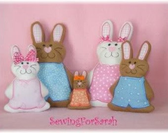 Deluxe Bunny Softies Embroidery Machine Designs  for the 6x10, 5x7, 4x4 hoop