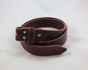 "1-1/2"" Belt with no buckle, your choice of hardware finish."