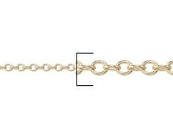 2.5mm Gold Filled Cable Chain - (10 feet)