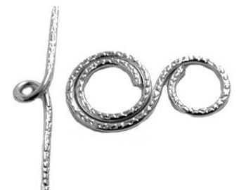 30x16mm Sterling Silver Handmade Toggle Clasp
