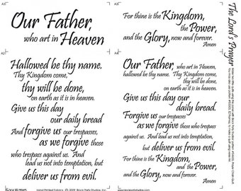 The Lord's Prayer Fabric Panel, Church Panel, Church Fabric, Christian Fabric, Christian Material, Our Father in Heaven