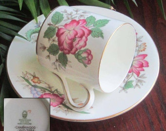 Free Shipping Wedgwood CHARNWOOD WD3984 Bone China Demi Tasse Cup and Saucer - Made in England